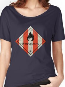 Launch flammable sign Women's Relaxed Fit T-Shirt
