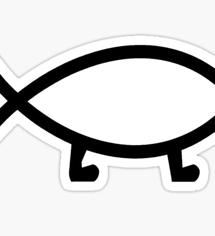 Plain Darwin Fish Sticker