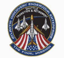 The Final Mission - Shuttle Transition and Retirement Patch One Piece - Short Sleeve