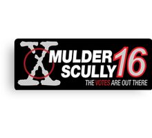 Mulder / Scully 2016 Canvas Print