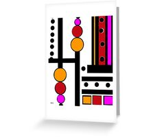 modernism red yellow pink Greeting Card