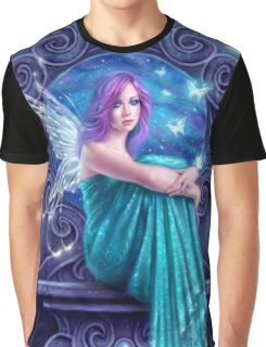 Astraea Fairy with Butterflies Graphic T-Shirt