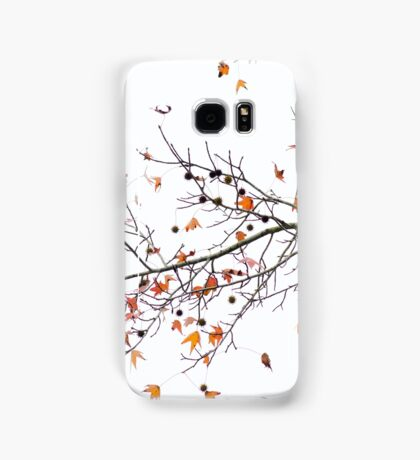 Orange Leaves and Gumballs Samsung Galaxy Case/Skin
