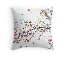 Orange Leaves and Gumballs Throw Pillow