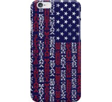 United States Names Flag iPhone Case/Skin