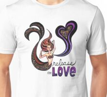 Release the Love: Watercolor Mermaid Original Illustration Unisex T-Shirt