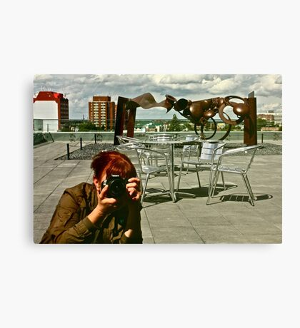 Rooftop Reflections Canvas Print