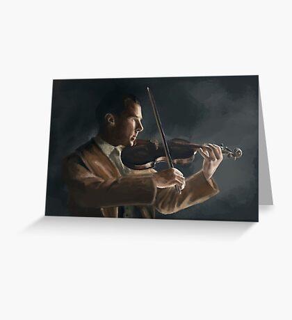 Sherlock with his Violin Greeting Card