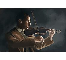 Sherlock with his Violin Photographic Print