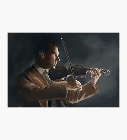 Sherlock with his Violin Photographic Print