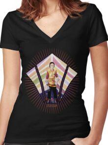 Warrior Class Kid - Mars  Women's Fitted V-Neck T-Shirt