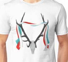 Deer Head With Patriotic Ribbons Unisex T-Shirt