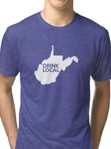 West Virginia Drink Local WV Tri-blend T-Shirt