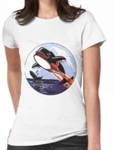 VP 49 Orcas WWII Crest Womens Fitted T-Shirt