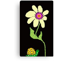 Friends the  Little Snail and Big Flower Canvas Print