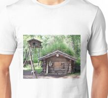 Old trapper's cabin in woods, Alaska, USA Unisex T-Shirt