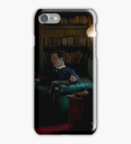 Sherlock Holmes and John Watson by the fire iPhone Case/Skin