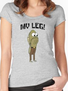 Fred The Fish: My Leg! - Spongebob Women's Fitted Scoop T-Shirt