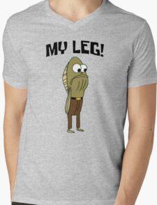 Fred The Fish: My Leg! - Spongebob Mens V-Neck T-Shirt