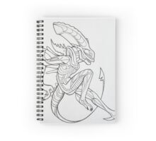 Xenomorph sketch Spiral Notebook