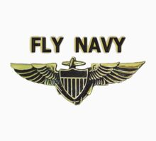 Naval Aviator Wings - Fly Navy One Piece - Short Sleeve