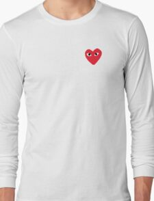 Comme Des Garcons Heart Long Sleeve T-Shirt