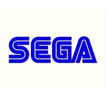 Blue Sega Logo Art Print