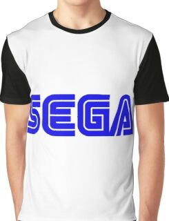 Blue Sega Logo Graphic T-Shirt
