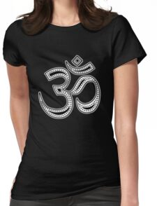 OM Yoga Spiritual Symbol in Style Womens Fitted T-Shirt