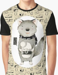 Wolf With Camera Graphic T-Shirt