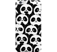 Some Pandas on Black iPhone Case/Skin