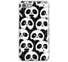 Some Pandas on Black iPhone Case/Skin