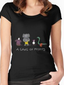 A gang of misfits Women's Fitted Scoop T-Shirt