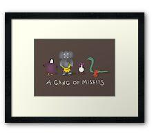 A gang of misfits Framed Print