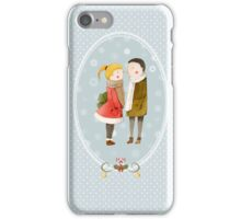 Lovers In The Snow iPhone Case/Skin