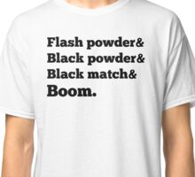 &BOOM in black Classic T-Shirt