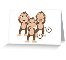 Three wise monkeys Greeting Card