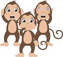Three wise monkeys Photographic Print