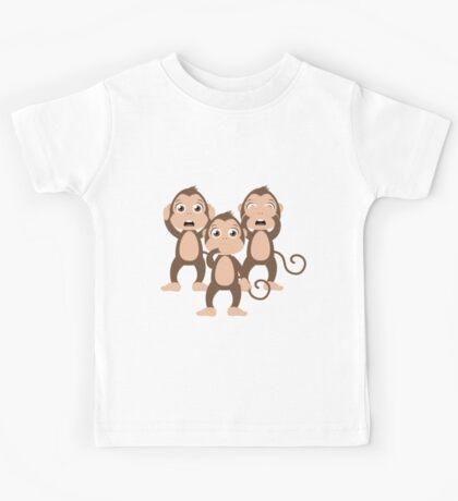 Three wise monkeys Kids Tee