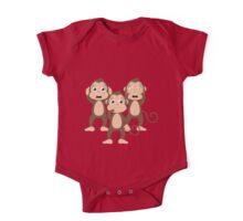 Three wise monkeys One Piece - Short Sleeve