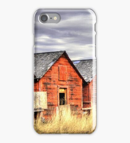Four Red Barns.............. iPhone Case/Skin
