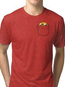 Jake in a Pocket Tri-blend T-Shirt