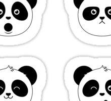 Some Pandas on Black Sticker