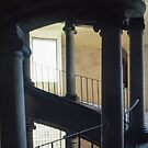 Bramante Stairs Vatican Museum Rome Italy 19840718 0019 by Fred Mitchell