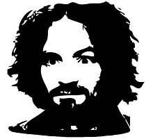 Charles Manson Face. Photographic Print