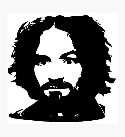 Charles Manson Face. Photographic Print