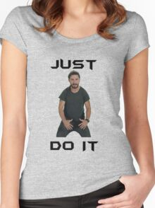 Just do it Shia Labeouf Women's Fitted Scoop T-Shirt