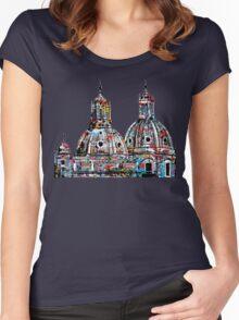 Rome graffiti Women's Fitted Scoop T-Shirt
