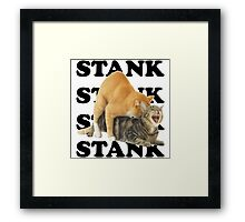 STANK CAT hoot SWAGGIN hoot SHIRT AIGHT Framed Print