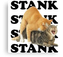 STANK CAT hoot SWAGGIN hoot SHIRT AIGHT Canvas Print